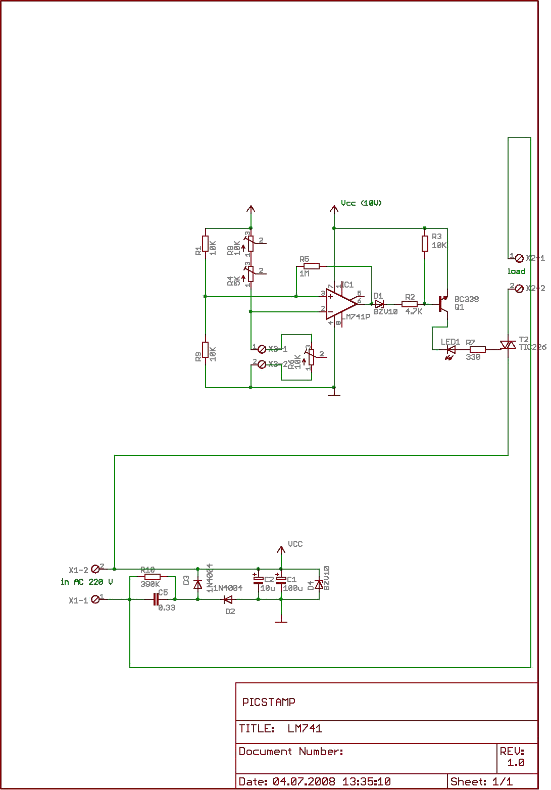 Comparator Circuits With Hysteresis Design Tool Craigs Thermostat Pcb